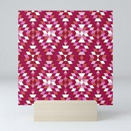 Lesbian Pride Triangles and Diamonds Pattern Mini Art Print
