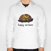 tortoise Hoodies featuring Happy Tortoise by Farnell