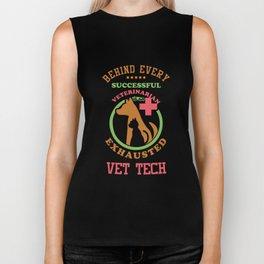Vet Tech Veterinarians Vet Assistant Animal Care Veterinary Animal Lovers Gifts Biker Tank