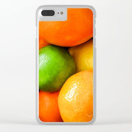 Oranges Lemons & Limes Clear iPhone Case