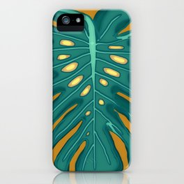 Monstera Flying to Autumn 2 iPhone Case