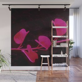 Japanese Flower: Minimalist Art Wall Mural