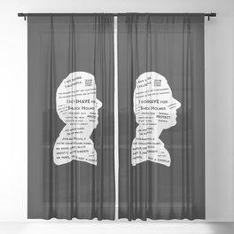John Watson - tv show sherlock black Sheer Curtain