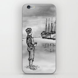 The Kid and the Ships iPhone Skin