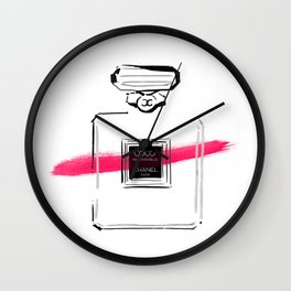 Pink Perfume #5 Wall Clock