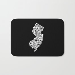 Typographic New Jersey Bath Mat