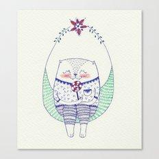 lollipop cat Canvas Print