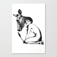 taurus Canvas Prints featuring Taurus by Carolina Espinosa