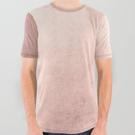 Blush Rose Gold Ombre All Over Graphic Tee