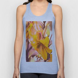 Yellow Lilies In The Garden #decor #society6 #buyart Unisex Tank Top