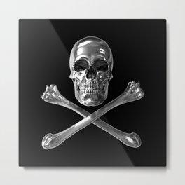 Jolly Roger Skull Metal Print