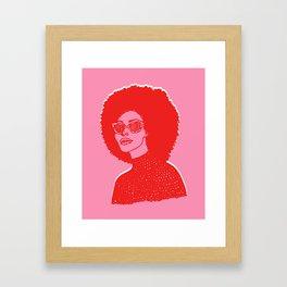 Kara Pink Framed Art Print