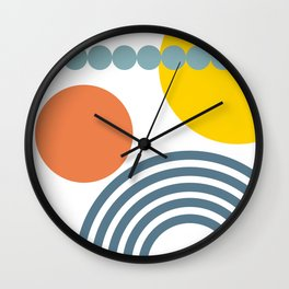 Shapes - Primary Colors Wall Clock