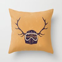 into the wild Throw Pillows featuring wild by The Junkers