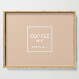 Iced Coffee No5 Serving Tray