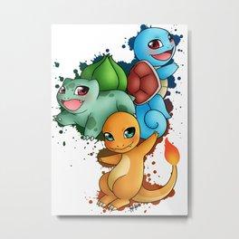 Poke' Starters - Gen 1 Metal Print