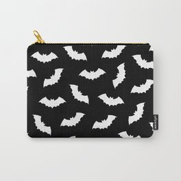 Black & White Bats Pattern Carry-All Pouch