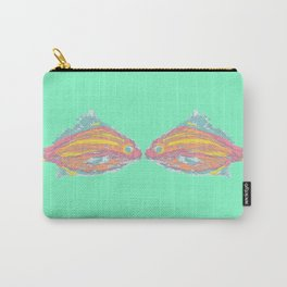 sea foam kisssing fish  Carry-All Pouch