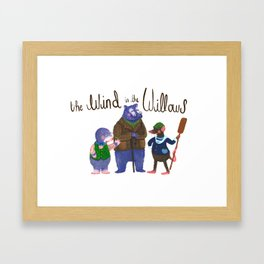 The Wind in the Willows Trio Framed Art Print