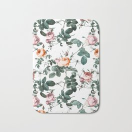 Floral and Winged Darter Bath Mat