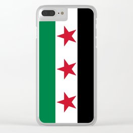 Syrian Independence Flag  High quality Clear iPhone Case