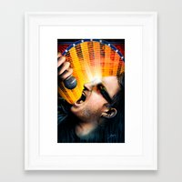 u2 Framed Art Prints featuring Bono from U2 by TidalWave Productions