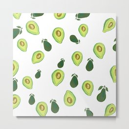 Cute avocado print wall art, phone case, home decor Metal Print