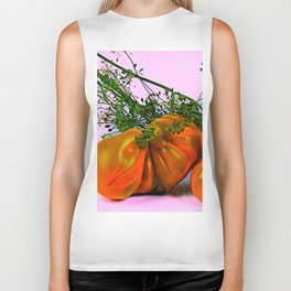 Still life of tomatoes and dill Biker Tank