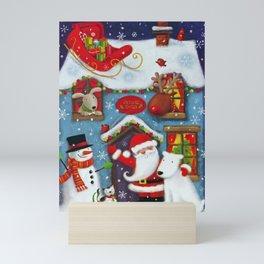 Santa's House Mini Art Print