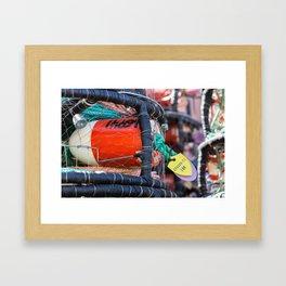 Noyo Harbor Buoy Framed Art Print