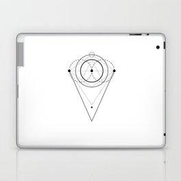 Orb Geometry White Laptop & iPad Skin