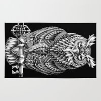 bioworkz Area & Throw Rugs featuring Great Horned Owl by BIOWORKZ