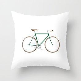 Retro fixie Throw Pillow