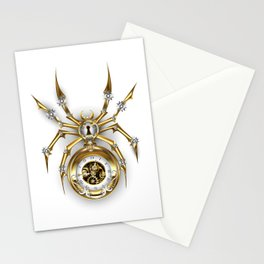 Spider with Clock ( Steampunk ) Stationery Cards