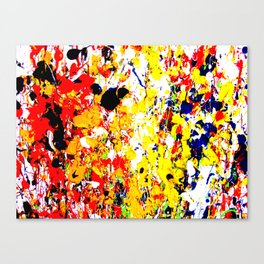 Splatter Painting Canvas Print