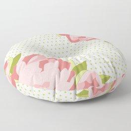 Peonies & Polka Dots Floor Pillow