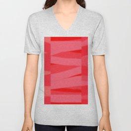 Red Slate Unisex V-Neck
