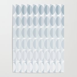 pattern leaves in the mist (ice gray) Poster