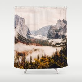 Amazing Yosemite California Forest Waterfall Canyon Shower Curtain