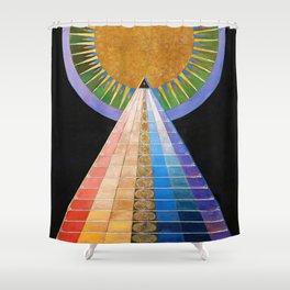 12,000pixel-500dpi - Hilma af Klint - Altarpiece - Digital Remastered Edition Shower Curtain