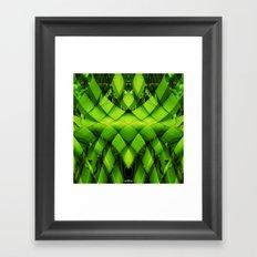 woven plant Framed Art Print
