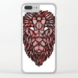 Lion Mask Clear iPhone Case