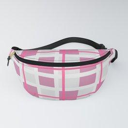 Retro Pink Plaid Pattern Fanny Pack