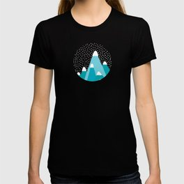 Blue Snowy Mountains T-shirt
