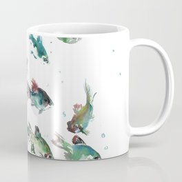 Barb Fish, green turquoise aquatic fish design aquarium Coffee Mug