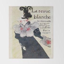 La Revue Blanche Toulouse Lautrec Throw Blanket