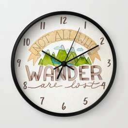 Not All Who Wonder Wall Clock