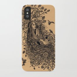Lady and the fox iPhone Case