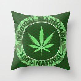 100% Natural Throw Pillow