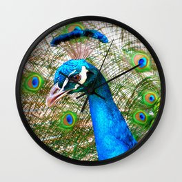 Peacock in Bloom Wall Clock